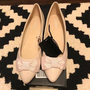 Nude Bow Pointed Flats Forever 21 Size 7